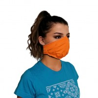 Ochranná rouška elastická antibakteriální oranžová